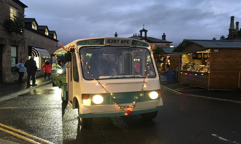 Borders milk float, Kirkby Lonsdale