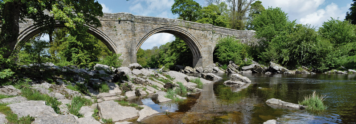 Historic Devils Bridge at Kirkby Lonsdale