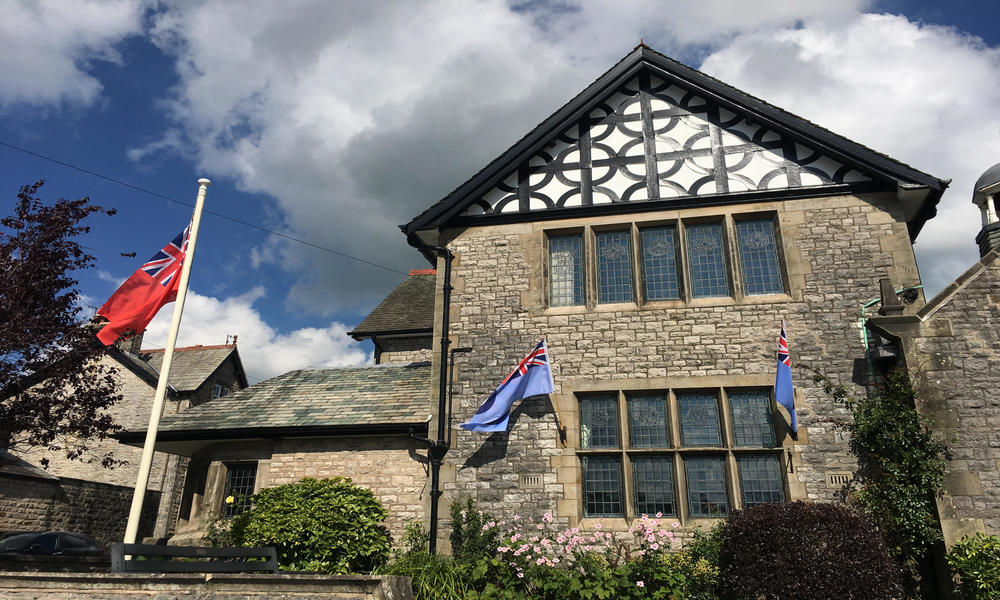 Lunesdale Hall with flag pole