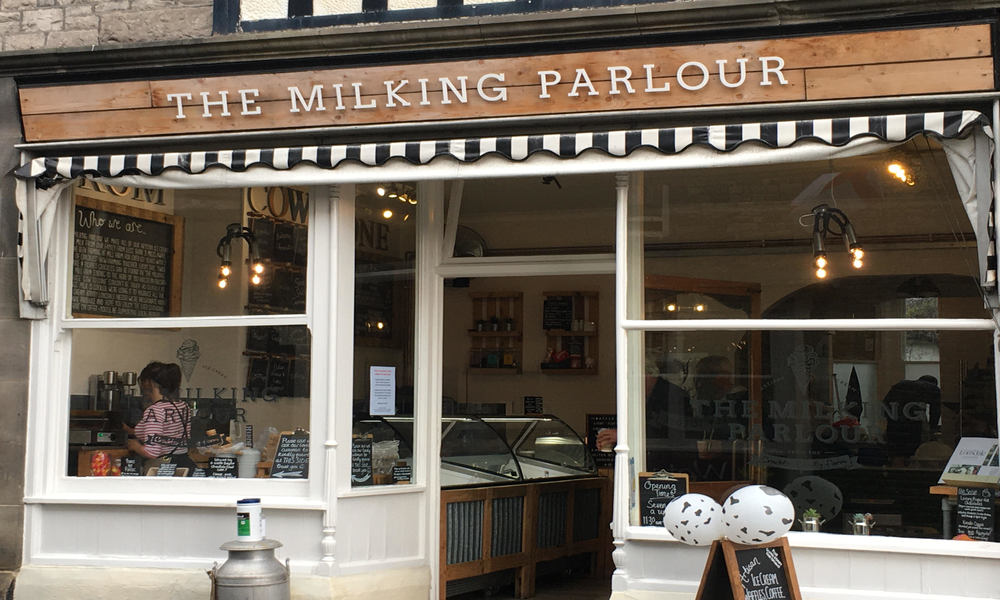 Grab an ice cream at The Milking Parlour