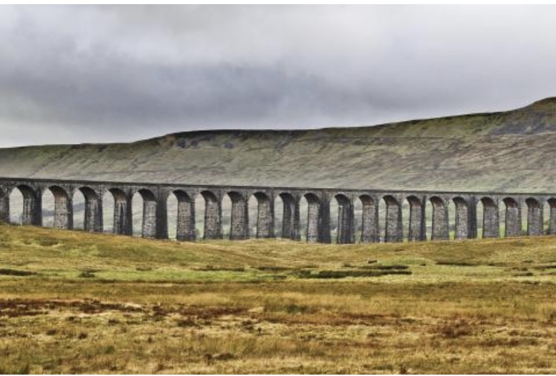 View of Ribblehead Viaduct near Kirkby Lonsdale