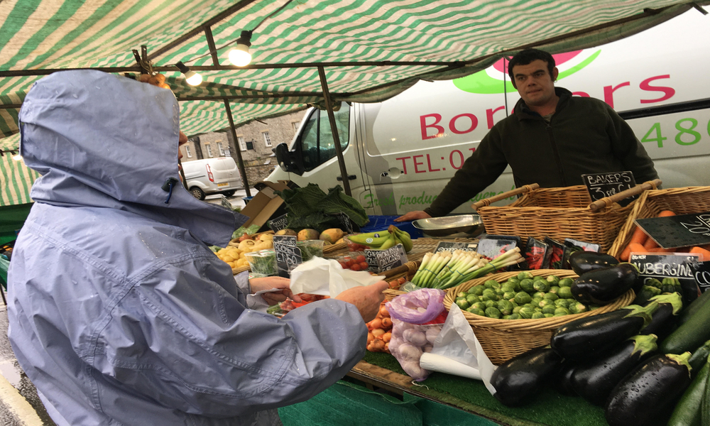 Borders greengrocers stall