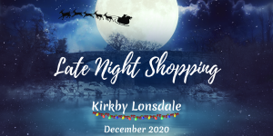 Late Night Shopping and Christmas Window Walk in Kirkby Lonsdale on 11th December