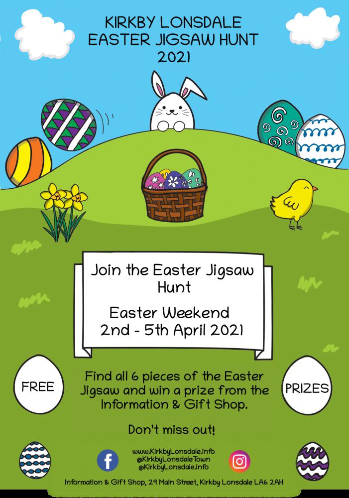 Kirkby Lonsdale Easter Jigsaw Hunt Poster 2021