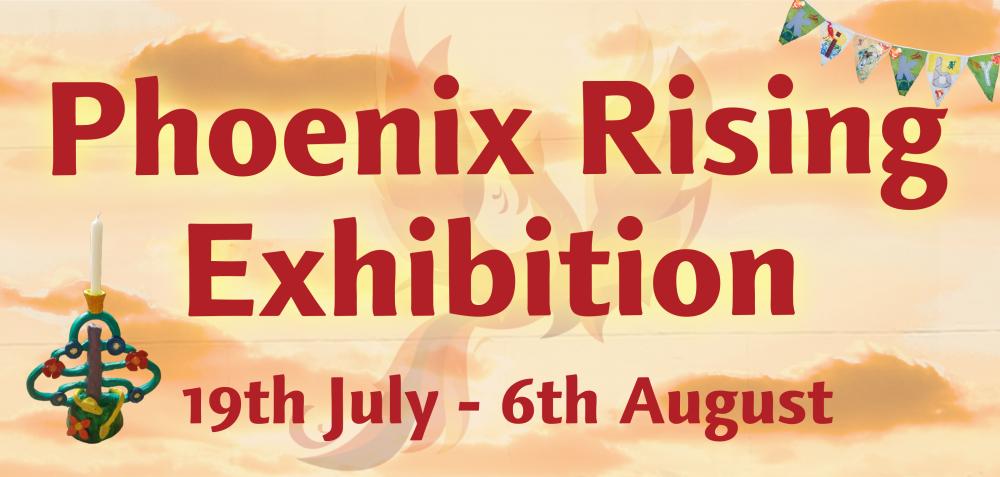 Phoenix Rising Exhibition banner