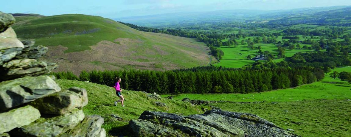 Running in the hills near Kirkby Lonsdale