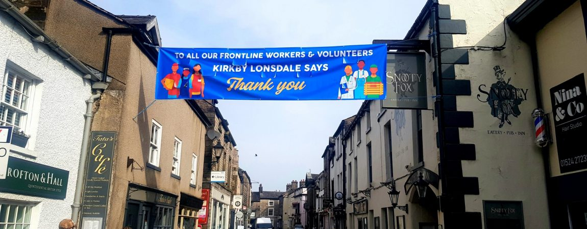 Kirkby Lonsdale NHS and volunteer thank you banner